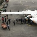 Boarding the flight to Kathmandu. This aircraft was to tragically crash a matter of days later.