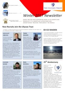 Ulysses Trust Newsletter - Winter 2017 - front cover