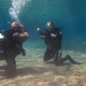 Dive Supervisor WO1 Paul Rowlands putting Capt Dani Whitehouse through her paces and carrying out a skills review during Ex NORTHERN SERPENT 17