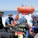 Divers travel to the dive site via fast boat during Ex NEPTUNE SERPENT 17