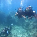 Sgt Jodie Mills and dive buddy LCpl Ian Jessermino Ex NEPTUNE SERPENT 17