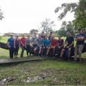 The crew on a 12km hike to San Lorenzo fort, Panama