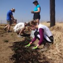 Planting crops at a local Zulu school