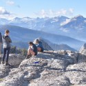 Mountaineering instruction being delivered in the perfect environment of the High Sierra Mountains, California