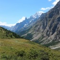 The view down the Aosta Valley, which the group walked in just under 2 days.