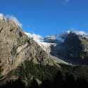 The epic view the group woke up to at Refugio Monte Bianco.