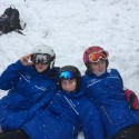 Three Stirling cadets on the snow!