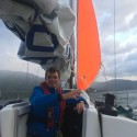 The Storm Jib, more like a Kevlar reinforced tea towel than a sail