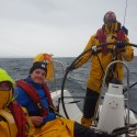 Rushing through the Corran Narrows when hit by a hurricane strength 65 knots gust