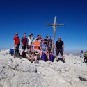 Summit of Piccolo Lagazoui (2778m) The final ascent and a fitting climax to Exercise NORTHERN DOLOMITE.