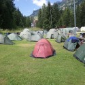 Camp sites were amazing.  This is Colfosco camping in Cortina.