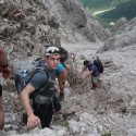 Everbody loves the downhill, not always true in the Dolomites!